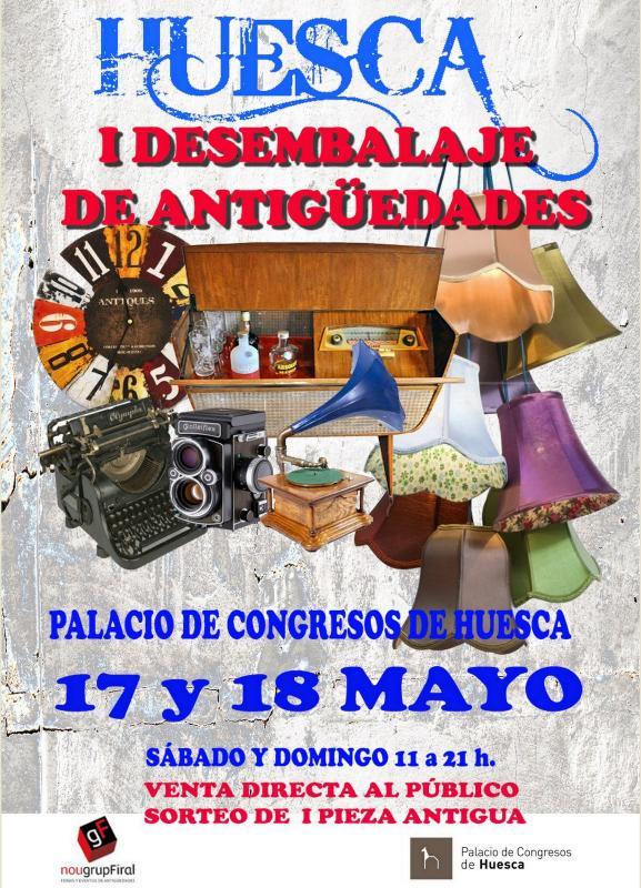Primera feria desembalaje de antigûedades de Huesca